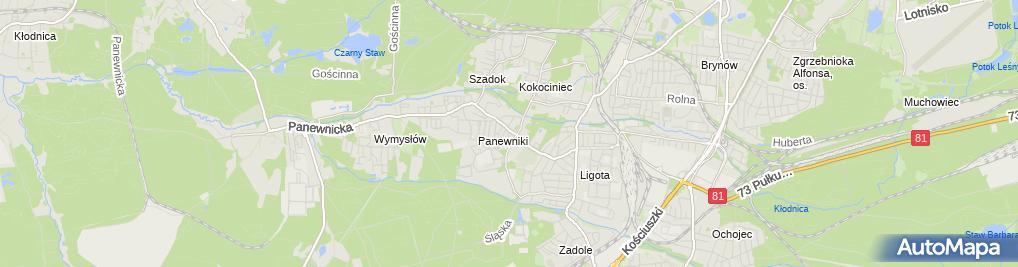 Zdjęcie satelitarne Klasztor franciszkanów w Panewnikach