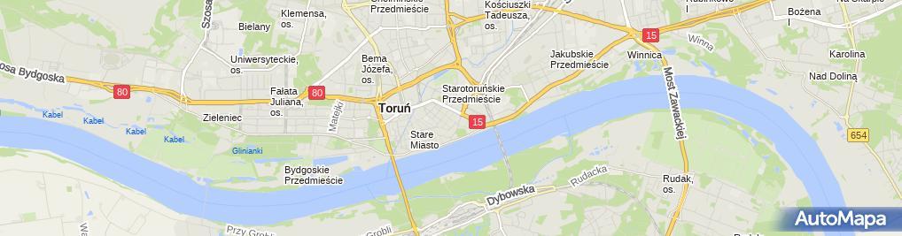 Zdjęcie satelitarne Kościół św. Jakuba w Toruniu