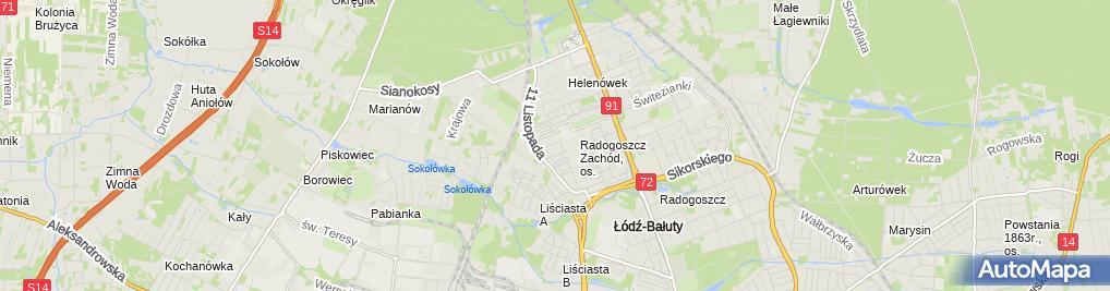 Zdjęcie satelitarne Nina - Producent galanterii ślubnej i komunijnej