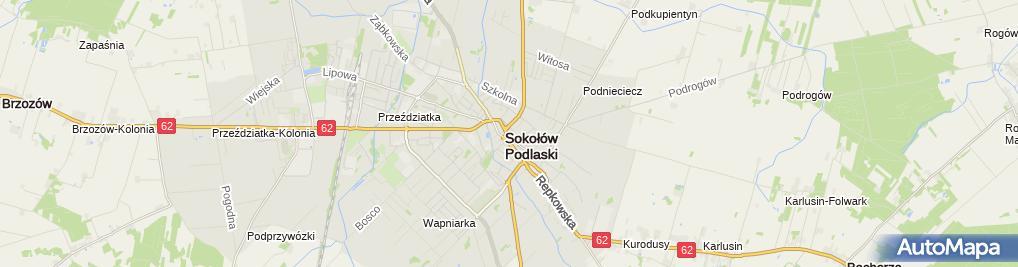 Zdjęcie satelitarne Ezop Księgarnia Artykuły Przemysłowe Kazimiera Szczeglacka Maria Szczeglacka Elżbieta Frączek