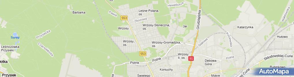 Zdjęcie satelitarne Księgarnie Sądowe Łukasik Elżbieta Łukasik Sławomir