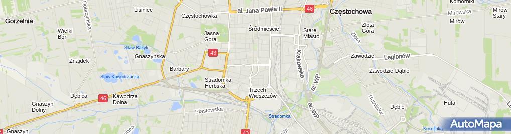 Zdjęcie satelitarne Kuratorium Oświaty w Katowicach - Delegatura