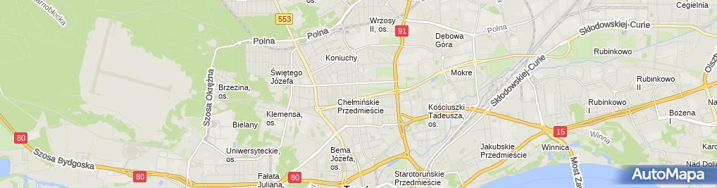 Zdjęcie satelitarne Kleń-Cyklamen