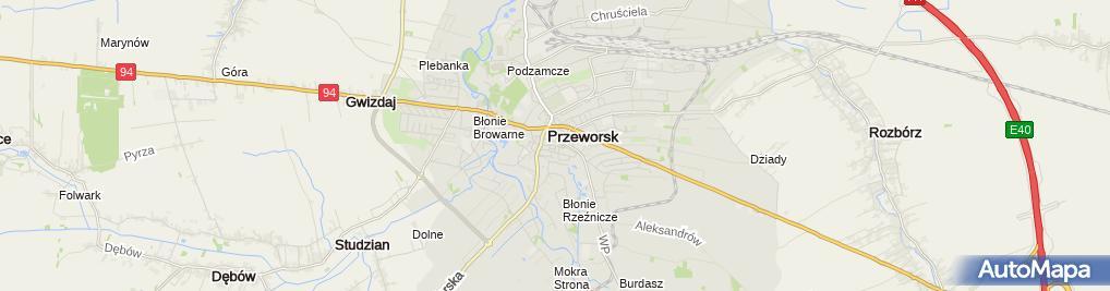 Zdjęcie satelitarne Kwiaciarnia Irys Jerzy Fornal & Elżbieta Pieniążek