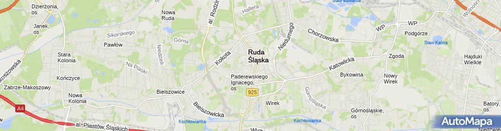 Zdjęcie satelitarne Rafał Koziatek Kwiaciarnia Glorioza