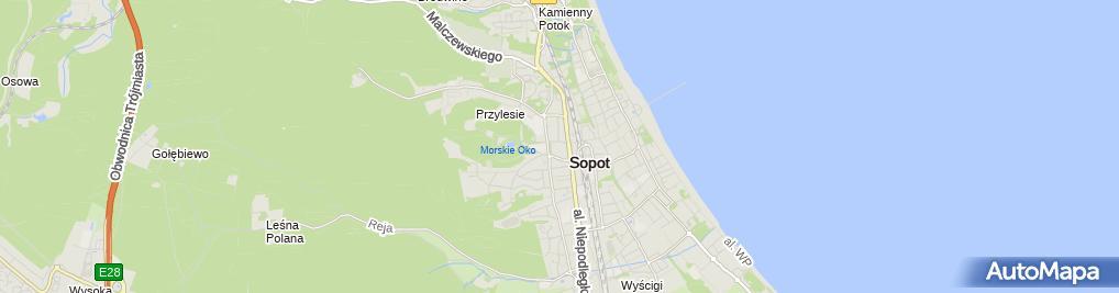 Zdjęcie satelitarne Tajemniczy Ogród