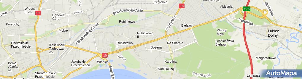 Zdjęcie satelitarne Wrzos