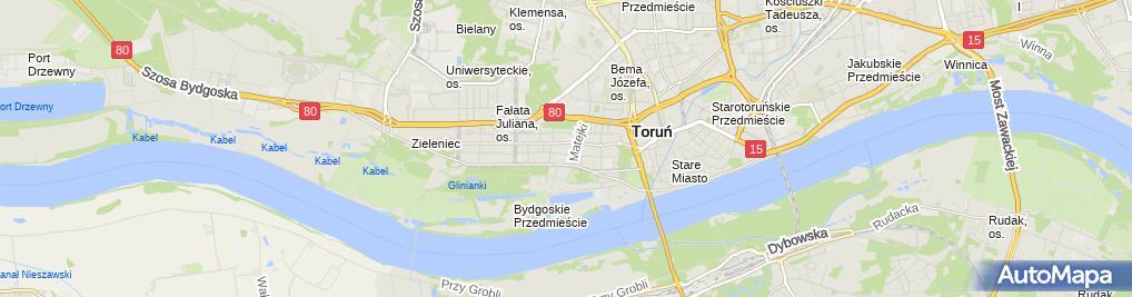 Zdjęcie satelitarne Indywidualna Praktyka Lekarska Maria Jaworska Drozdowska
