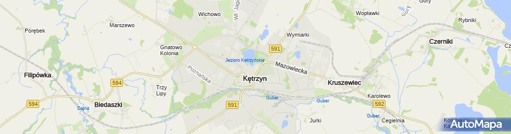 Zdjęcie satelitarne I Liceum Ogólnokształcące Cn-B Im. Polskich Spadochroniarzy W Kętrzynie