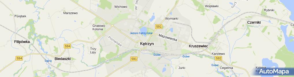Zdjęcie satelitarne II Prywatne Liceum Ogólnokształcące W Kętrzynie