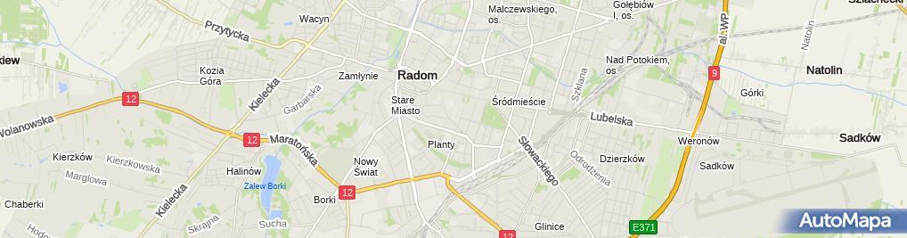 Zdjęcie satelitarne III Liceum Ogólnokształcące Im. Płk. Dionizego Czachowskiego W Radomiu
