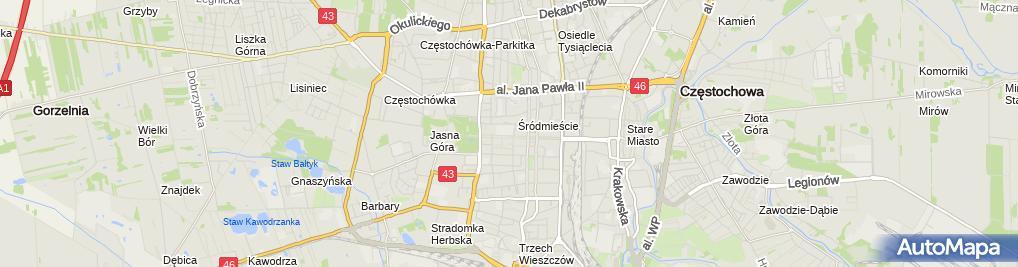 Zdjęcie satelitarne IV Liceum Ogólnokształcące Im. Henryka Sienkiewicza