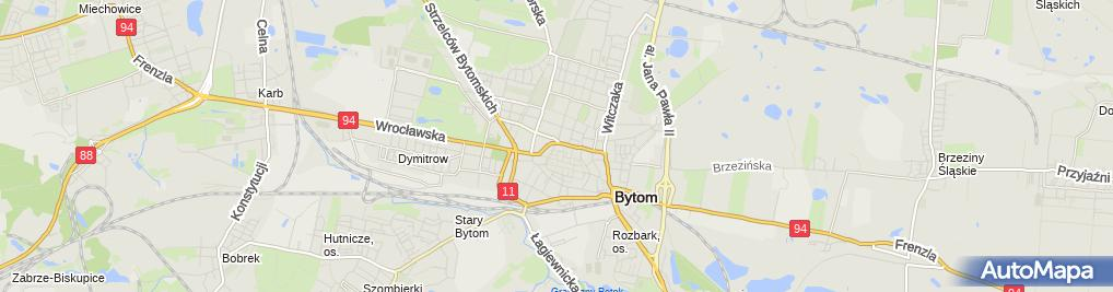 Zdjęcie satelitarne Liceum Ogólnokształcące Dla Dorosłych 'Copernicus' W Bytomiu