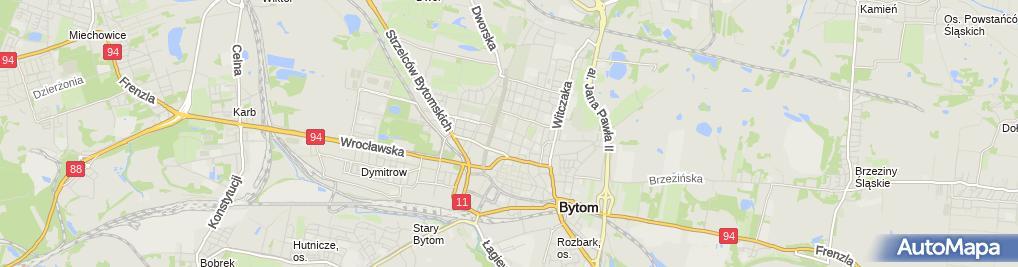Zdjęcie satelitarne Liceum Ogólnokształcace Dla Dorosłych 'Edukacja' W Bytomiu