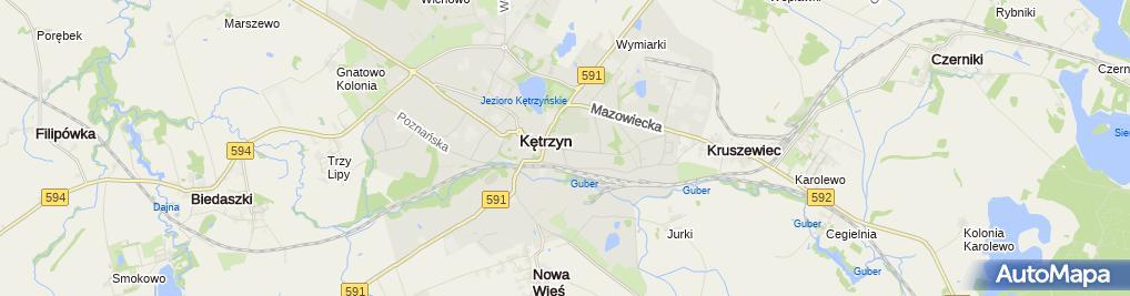 Zdjęcie satelitarne Liceum Ogólnokształcące Dla Dorosłych W Kętrzynie
