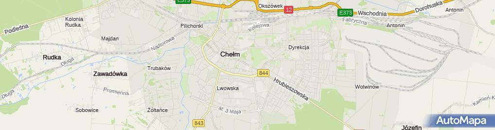 Zdjęcie satelitarne Liceum Ogólnokształcące Dla Dorosłych Wiliams W Chełmie