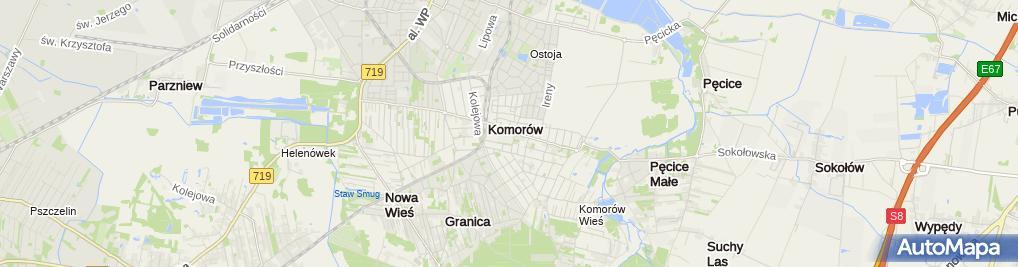 Zdjęcie satelitarne Liceum Ogólnokształcące Im. Marii Dąbrowskiej