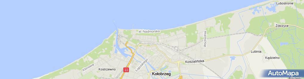 Zdjęcie satelitarne Liceum Ogólnokształcące Specjalne W Kołobrzegu