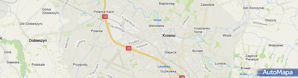 Zdjęcie satelitarne Liceum Plastyczne Im. Tadeusza Brzozowskiego W Krośnie