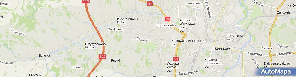 Zdjęcie satelitarne Publiczne Liceum Ogólnokształcące Im. Pauli Montal Sióstr Pijarek W Rzeszowie