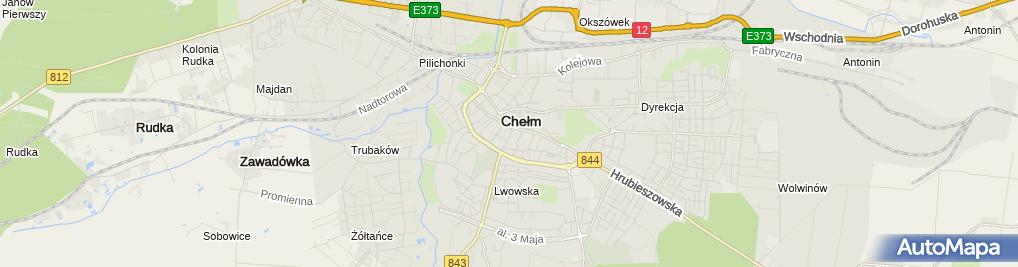 Zdjęcie satelitarne Trzyletnie Liceum Ogólnokształcące Dla Dorosłych 'żak' W Chełmie