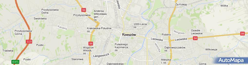Zdjęcie satelitarne Trzyletnie Liceum Ogólnokształcące Dla Dorosłych 'żak' W Rzeszowie