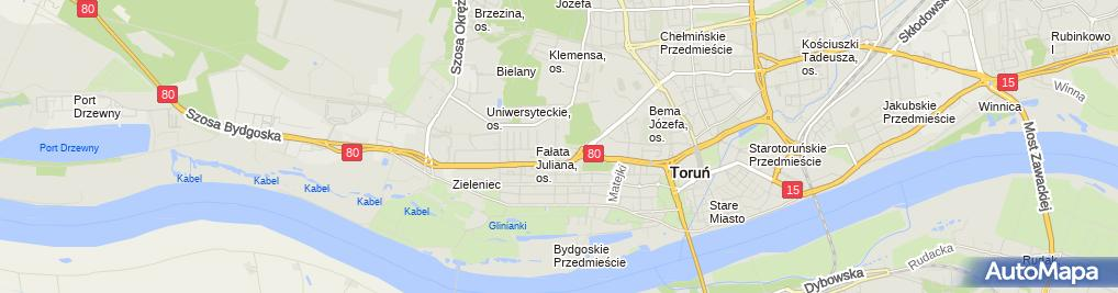 Zdjęcie satelitarne V LO im. Jana Pawła II