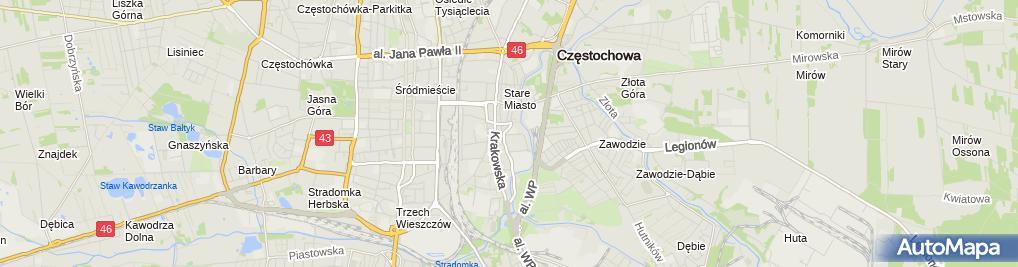 Zdjęcie satelitarne VI LP w ZS Mechaniczno-Elektrycznych im. K. Pułaskiego