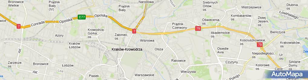 Zdjęcie satelitarne VIII Liceum Ogólnokształcące Dla Dorosłych Im. Św. Maksymiliana Marii Kolbe W Krakowie