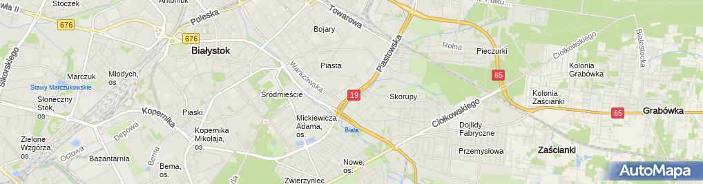 Zdjęcie satelitarne VIII Liceum Ogólnokształcące Im. Króla Kazimierza Wielkiego W Białymstoku