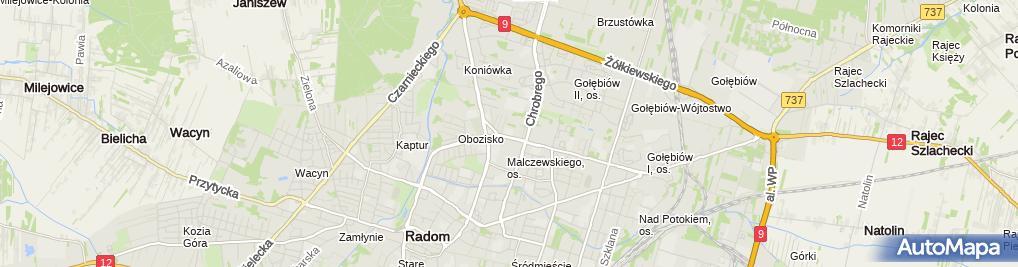 Zdjęcie satelitarne Xi Liceum Ogólnokształcące Z Oddziałami Integracyjnymi Im. Stanisława Staszica