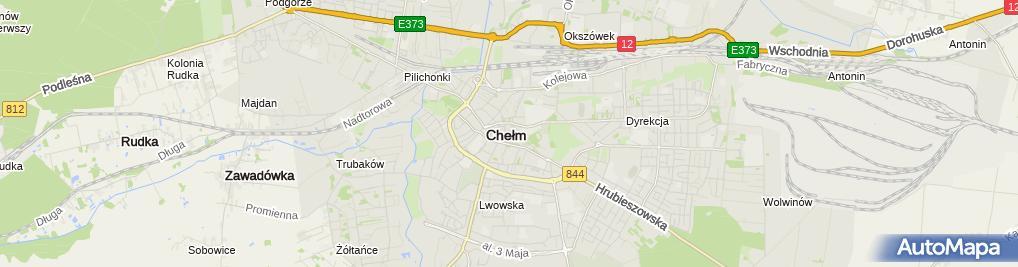 Zdjęcie satelitarne Zaoczne Liceum Ogólnokształcące 'Academia' W Chełmie