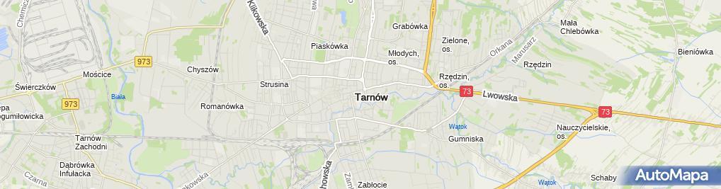 Zdjęcie satelitarne Zaoczne Liceum Ogólnokształcące Dla Dorosłych 'Cosinus Plus' W Tarnowie