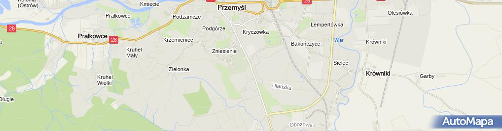 Zdjęcie satelitarne Fortyfikacja Linia Mołotowa