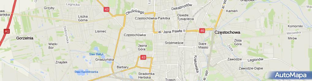 Zdjęcie satelitarne mBank - Oddział MSP