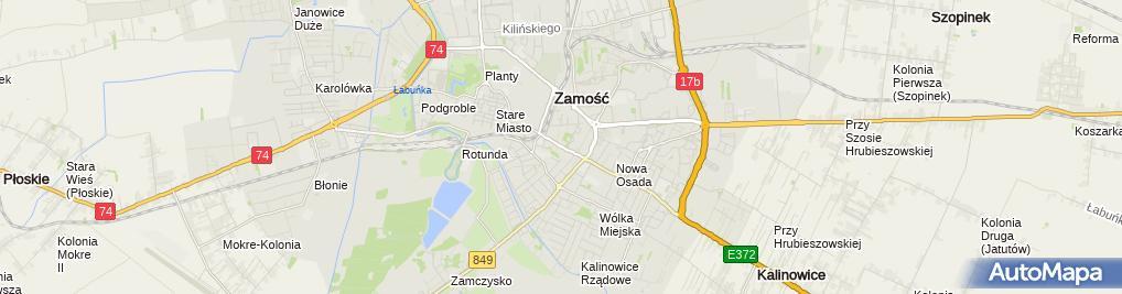 Zdjęcie satelitarne Mięsny - Sklep
