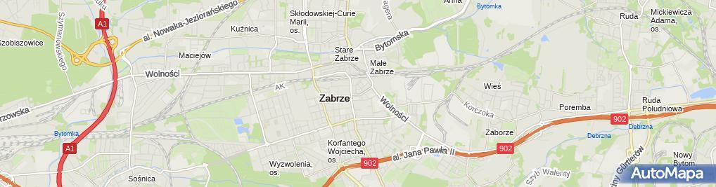 Zdjęcie satelitarne Sklep Spożywczo Przemysłowy Delikatesy Rabska Barbara Rabski Andrzej Grońska Magdalena