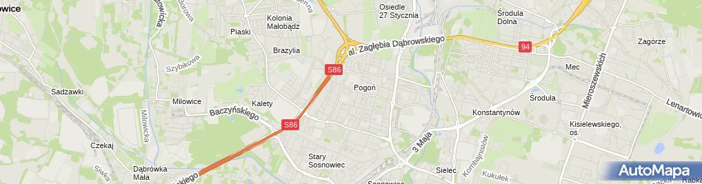 Zdjęcie satelitarne Sklep Wielobranżowy Michał Kubicki Elżbieta Kawecka