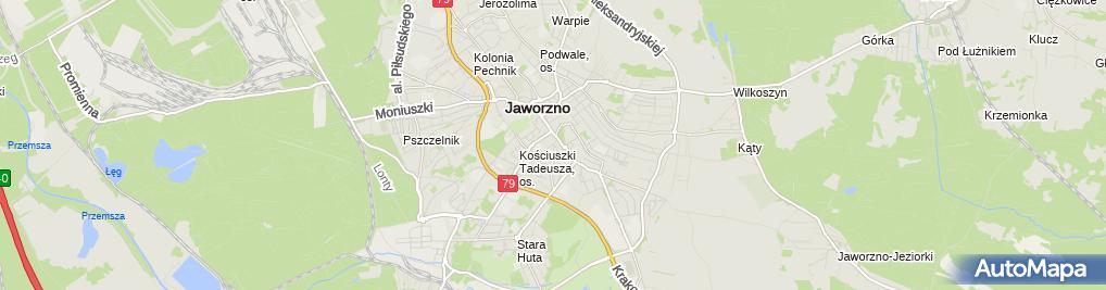 Zdjęcie satelitarne Jadłodajnia Zacisze