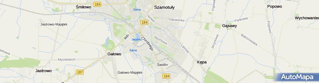 Zdjęcie satelitarne Centrum Sportu Szamotuły