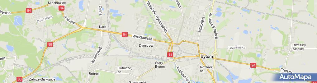 Zdjęcie satelitarne Fabryka Formy Bytom Square