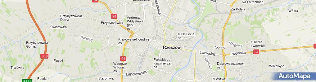 Zdjęcie satelitarne Fitness For Life Galeria Rzeszów