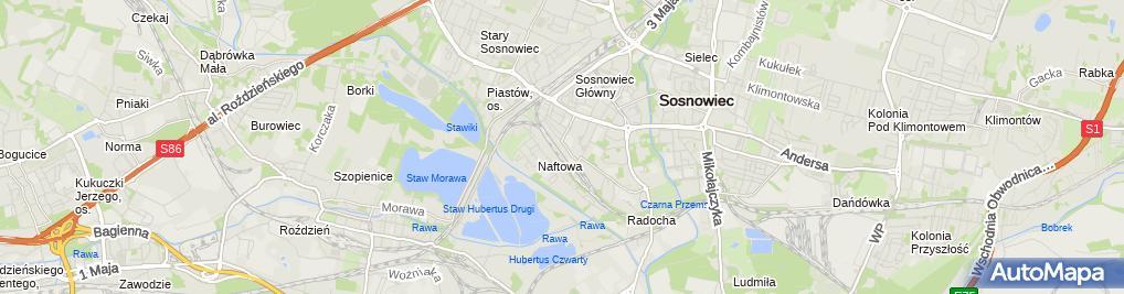 Zdjęcie satelitarne Fitness World Sosnowiec