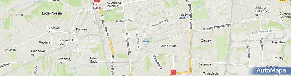 Zdjęcie satelitarne Centralne Muzeum Włókiennictwa