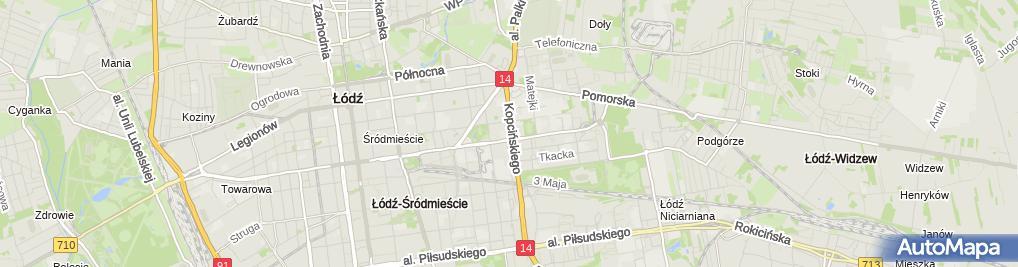 Zdjęcie satelitarne Geologiczne im. Jana Ziomka, Wydział Nauk Geograficznych UŁ