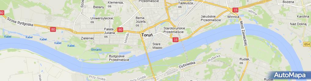 Zdjęcie satelitarne Gwiezdne Muzeum Toruń