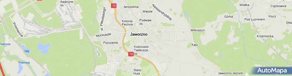 Zdjęcie satelitarne Miasta Jaworzna