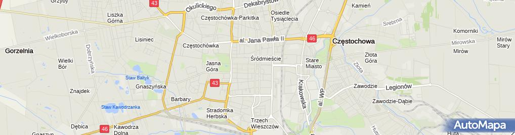 Zdjęcie satelitarne Muzeum Częstochowskie