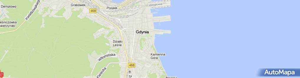 Zdjęcie satelitarne Muzeum Marynarki Wojennej w Gdyni