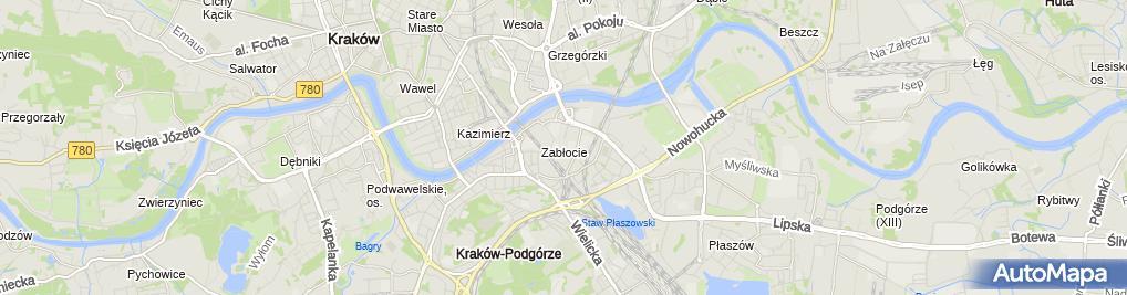 Zdjęcie satelitarne Muzeum Sztuki Współczesnej w Krakowie MOCAK